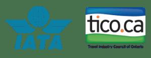 IATA & TICO Logo Accurate Travels & Travels