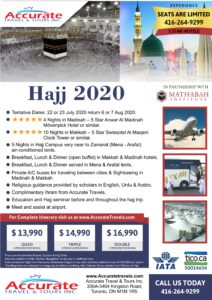 Hajj Packages 2020 From Canada Accurate Travel Tours